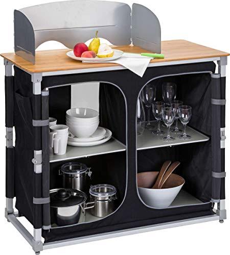 Berger Küchenbox Deluxe Campingküche Alu Aufbauschrank Faltschrank Wohnwagen Klappschrank Faltbox