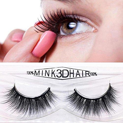 Preisvergleich Produktbild YanHoo Großes Paar! 1 Paar Mode Natürliche Handgemachte Lange Falsche Schwarze Wimpern Make-Up Heiß Wimpern