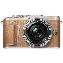 """Olympus PEN E-PL9 - Cámara de sistema compacto de 16 MP (pantalla de 3"""", zoom eléctrico, películas 4K, WiFi) marrón y plateado - kit con objetivo compacto M. Zuiko Digital ED de 14-42 mm"""