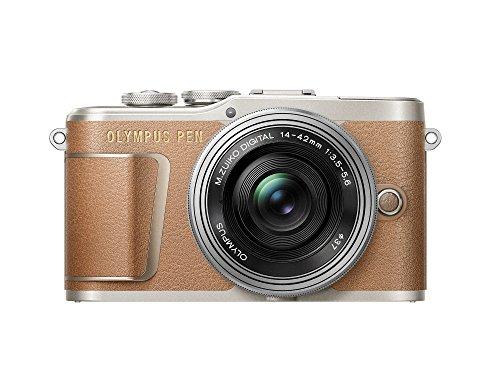 Olympus PEN E-PL9 Kit, Micro Four Thirds Systemkamera und M.Zuiko Digital ED 14-42 mm F3.5-5.6 EZ Zoomobjektiv, braun/silber
