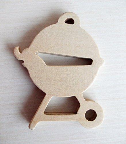 51fxxD2hzZL - Schlüsselanhänger Motiv Grill - aus Holz