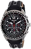 Seiko Men's Chronograph Automatic Watch with Leather Strap – SSC261P2