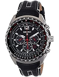 Seiko SSC261P2 - Reloj automático para hombre, correa de cuero color negro