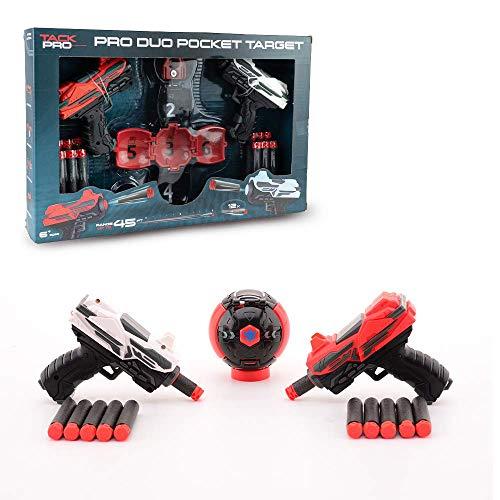 Tack Pro Duo Pocket mit 2 Mini Blaster und Zielkugeln inkl. 12 Darts