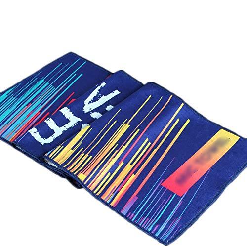 Sport Handtuch Schweißabsorbierendes Fitnessstudio Männer und Frauen Verdicken Komfortable Soft Sweat Sweat Lauf Basketball Badminton Handtuch (Color : Multi, Size : Colored)