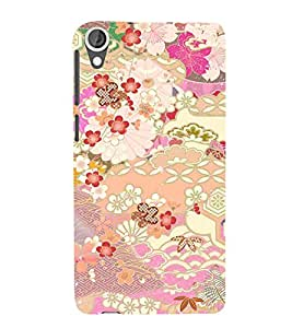 Fuson 3D Designer Back Case Cover For HTC Desire 820