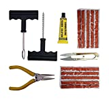 #10: SHOPEE BRANDED Complete Tubeless Tyre Puncture Repair Kit with Nose Pliers + Cutter + 10pcs strips plugs