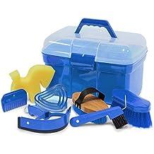 Pulizie Box Scatola riempito con accessori per cavalli colore: azurblau  scatola   Pulizie valigia box con contenuto
