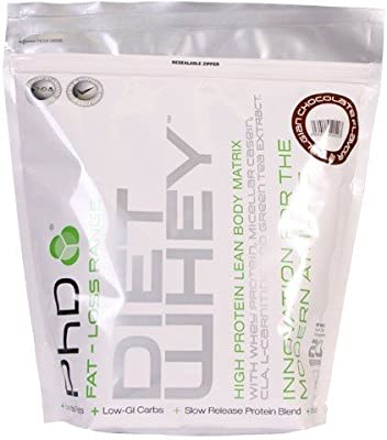 PhD Nutrition Diet Whey Protein 1kg,High protein low carb whey protein, Ideal for people following a weight loss program. (Belgian Chocolate) by PhD Nutrition