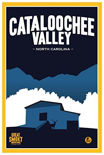 cataloochee Valley, North Carolina Gerahmter Kunstdruck von Matt Messing. 12x18 inch