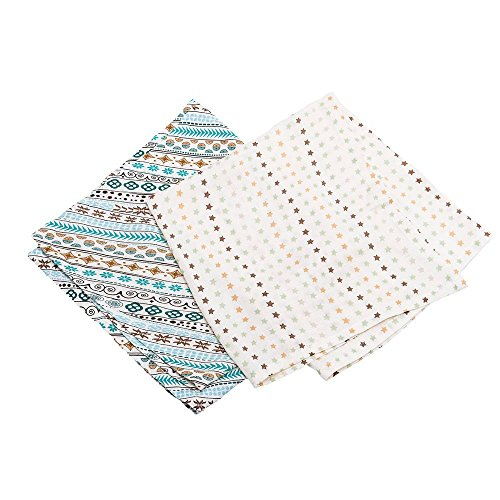 Be Be's Collection 888-15 Bamboo Schmusetuch Sterne bunt 120x120cm 2er Pack