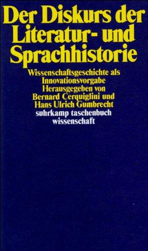 Suhrkamp Taschenbuch Wissenschaft Nr. 411: Der Diskurs der Literatur- und Sprachhistorie: Wissenschaftsgeschichte als Innovationsvorgabe