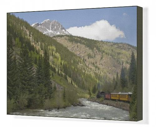 canvas-print-of-durango-a-silverton-train