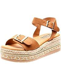 f0a24299d0 Amazon.es  Camel - Sandalias de vestir   Zapatos para mujer  Zapatos ...