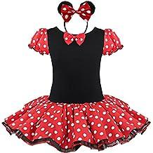 Jastore® niña Minnie Mouse Fantasía vestido Navidad Halloween festival partido tutú + oídos banda (S/1-2 años)