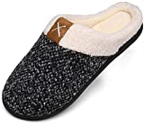 Mishansha Winter Hausschuhe Herren Memory Foam Plüsc Pantoffeln Männer Warm rutschfeste Slippers für Indoor & Outdoor Weiß Gr.46/47 EU