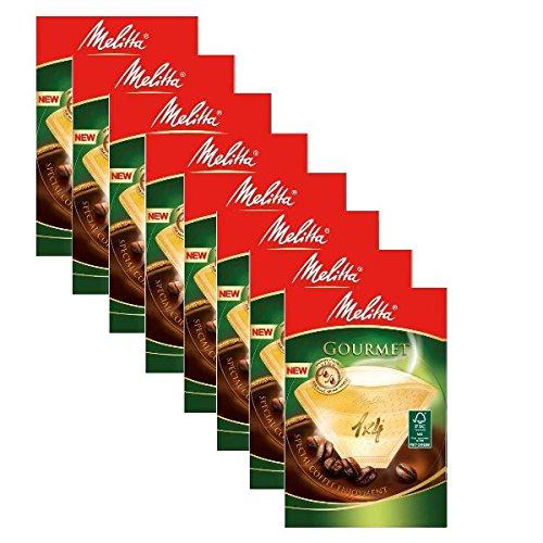 8Boxen Melitta Gourmet-Kaffeefilter, Größe 1x 4, 80Stück