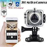 JOYCAM WiFi Caméra vidéo panoramique 360 degrés Camescopes Caméra de...