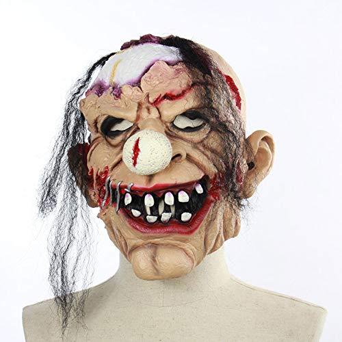 HLLPG Halloween Horror Clown Maske Karneval Teufel Kostüm Cosplay Latex Maske Masquerade Bars