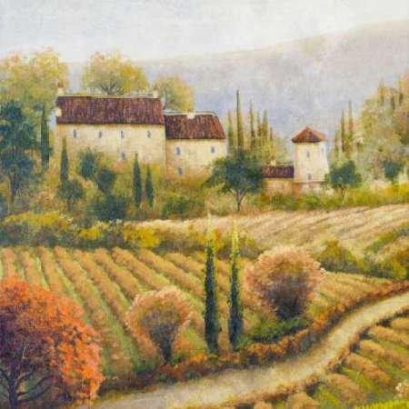 feelingathome. IT, Druck auf Leinwand 100% Baumwolle Galerie Toskana Vineyard