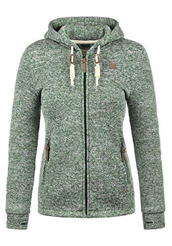 DESIRES Thory Damen Fleecejacke Sweatjacke Jacke Mit Kapuze Und Daumenlöcher, Größe:XL,...