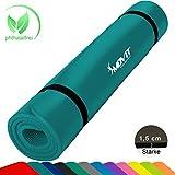 MOVIT XXL Pilates Gymnastikmatte, Yogamatte, phthalatfrei, SGS geprüft, 190 x 60 x 1,5cm, Lila