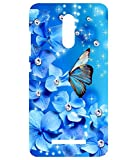 GazE Redmi Note 3 Cases Back Cover Mobile Pouches TPU Graphic Armour Premium Printed Designer 3D Funky Fancy Slim Graffiti Imported Cute Colurful Stylish - Blue Flowers