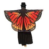 Rosennie Damen Butterfly Wings Schal Gedruckt Gewebe Schmetterlings Flügel Schal Lose Kimono Cardigan Top Shirt Bluse Frauen Nymphe Pixie Cosplay Kleidung Deutscher Karneval Kostüm