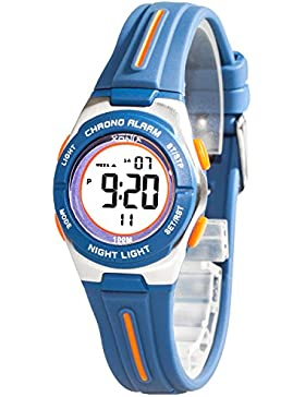 Kleine sportliche Armbanduhr digital XONIX Damen Kinder WR100m, 6D81JU2/6