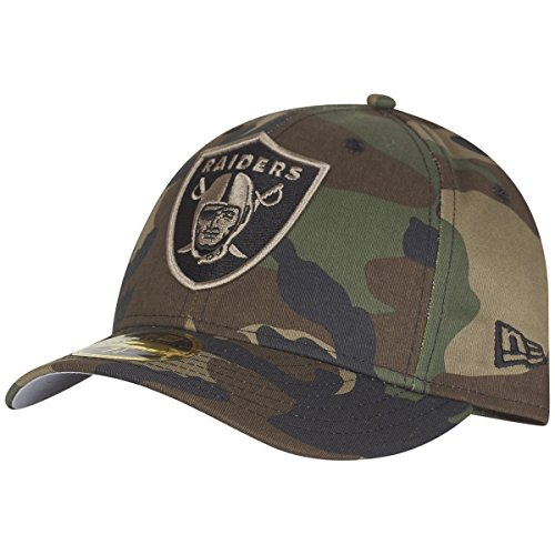 New Era 59Fifty LOW PROFILE Cap - Oakland Raiders wood camo