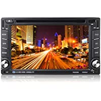 """OCDAY Doble din autoradio Android Radio GPS Navegador para coche Blutooth 6.2"""" Pantalla tácti Reproductor apoyo WIFI/RBA/DVD/USB/CD/espejo de pantalla, AUX, control de la rueda de dirección"""