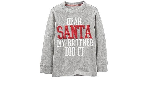 Baby Carters Dear Santa Tee Heather-12 Months