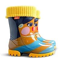 Demar Girls Wellington Boots Rain Snow Wellies PVC Liners Matryoshka Doll