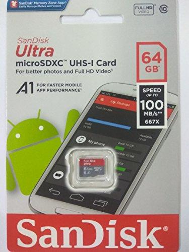 d799aa57b Sandisk 64GB Ultra Microsdxc (Microsd) Memory Card U1 100Mb S A1 ...