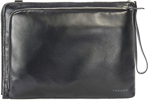Tucano Elle Damen Notebooktasche (aus Leder geeignet für 13 Zoll) schwarz