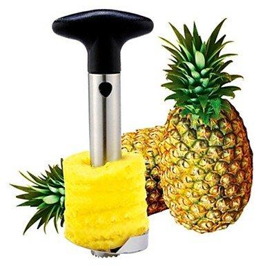 Ananas Épluche, En Acier Inoxydable 24,5 X 10 X 8,5 Cm (9,7 × 4,0 × 3,3 Pouces)