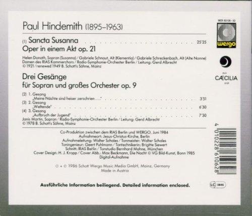 Hindemith : Sancta Susanna (opéra)