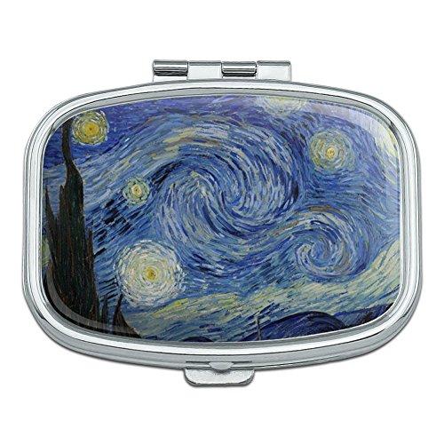Sternennacht von Vincent van Gogh Rechteck Pille Fall Schmuckkästchen Geschenk-Box