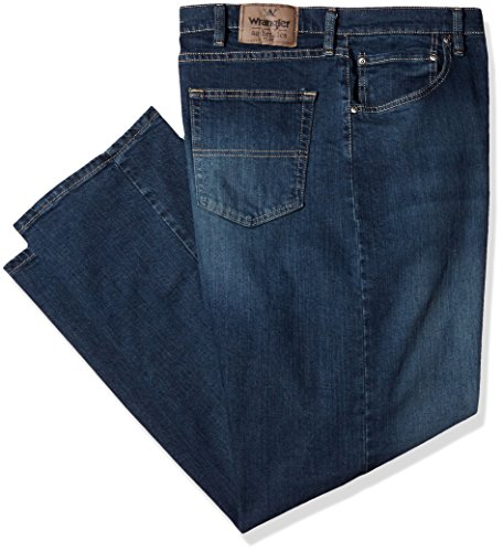 Wrangler Herren Authentics Mens Big & Tall Classic Relaxed Fit Jeans, Military Blue Flex, 42W / 36L - Jeans Men Wrangler Tall