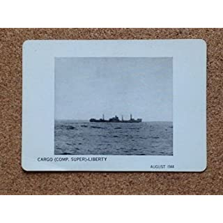 US NAVY Aircraft Ships 1944 Single Recognition card CARGO COMP SUPER LIBERTY