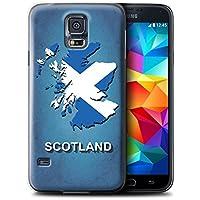 Stuff4 Hülle / Hülle für Samsung Galaxy S5/SV / Schottland/Scottish Muster / Flagge Land Kollektion