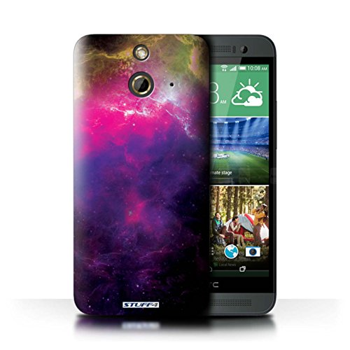 Kobalt® Imprimé Etui / Coque pour HTC One/1 E8 / Éclipse Jaune conception / Série Cosmos Nébuleuse Pourpre