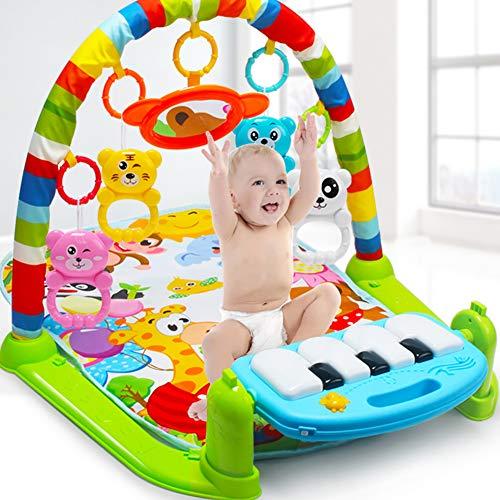 Majglge, tappetino da gioco per bambini, con pianoforte, struttura che promuove il movimento dei tuoi piccoli, struttura bodybuilding per bambini