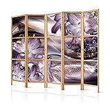 murando - Paravent XXL Blumen Lilien 225x171 cm - 5-teilig - einseitig - Eleganter Sichtschutz - Raumteiler - Trennwand - Raumtrenner - Holz - Design Motiv - Deko - Japan b-C-0205-z-c