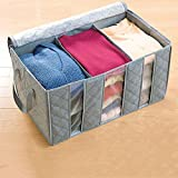 #5: Getko Foldable Wardrobe Clothes Organizer Blanket Pillow Organizer Clothes Storage Box (60 x 35 x 30cm)Multi Color