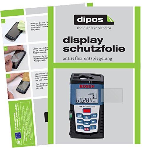 dipos I 3X Protector de Pantalla Mate para Bosch DLE 70 Professional pelicula Protectora