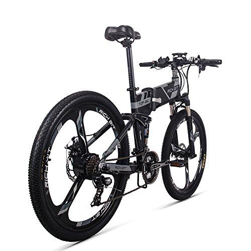 51fy69%2B350L. SS500  - RICH BIT Electric Bicycle 250W 36V 12.8Ah Lithium Battery Folding E-bike LCD Display Smart Mountain Bike Gray