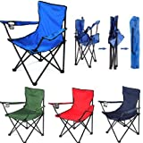Dayons Folding Camping Big Chair Portable Fishing Beach Outdoor Picnic Travel Collapsible Chairs (Multi-Color)