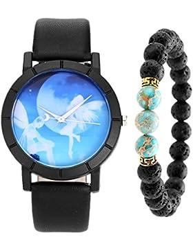 JSDDE Uhren Set,Schöne Blau Ster