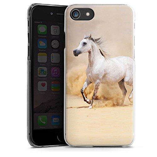 Apple iPhone 5c Tasche Hülle Flip Case Pferd Wüste Horse Hard Case transparent